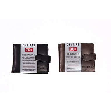 Champs Leather RFID Slimfold/Coin/Gusset Wallet
