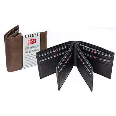 Champs Leather RFID Center Card Wallet