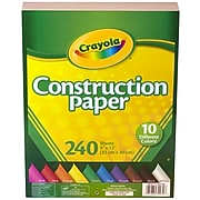 Crayola Construction Paper, Assorted Colors, 480/Pack (99-0013)