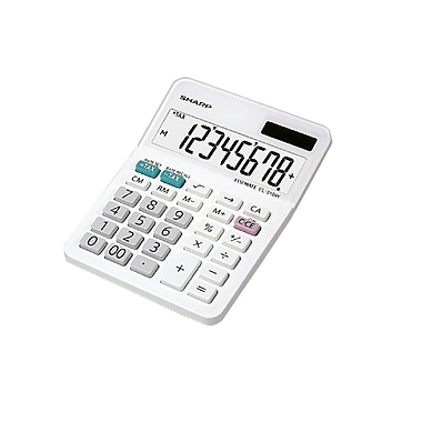 Sharp EL310WB 8 Digit Mini-Desktop Basic Calculator