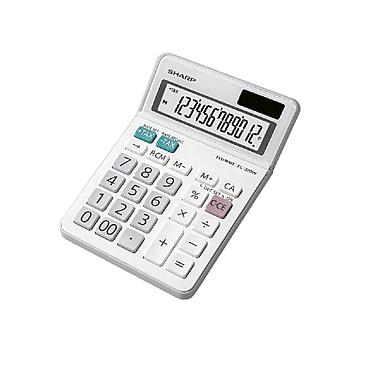 Sharp - Calculatrice professionnelle DT EL320WB, 12 chiffres