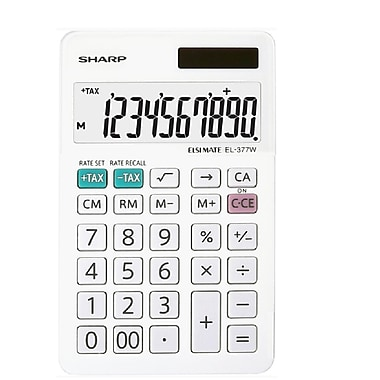 Sharp - Calculatrice commerciale de poche EL377WB, 10 chiffres