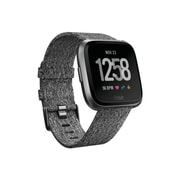 Fitbit Versa Special Edition Smartwatch, Black/Woven (FB505BKGY-CALA)