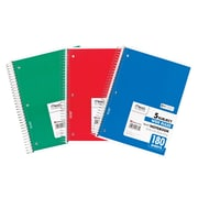 Mead Five Star Spiral 5 Subject Wide Ruled Notebook, 6/Pack (MEA05680)