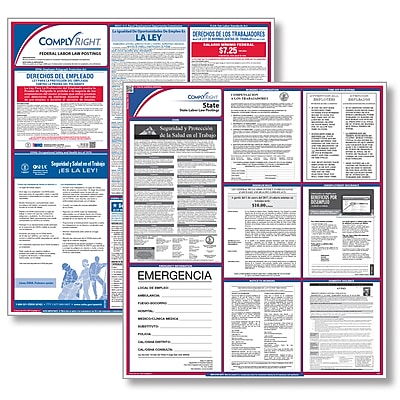 ComplyRight™ All-Inclusive Federal and State Labor Law Poster Set, Massachusetts, Spanish (E50MAS)