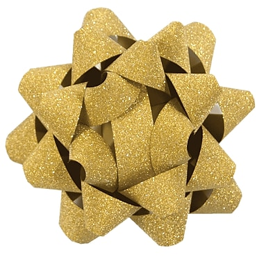 The Gift Wrap Company Glitter Star Bow, 12/Pack