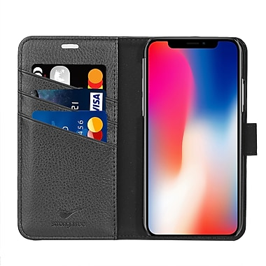 Strong N Free Moderna Folio Case for iPhone X, Black