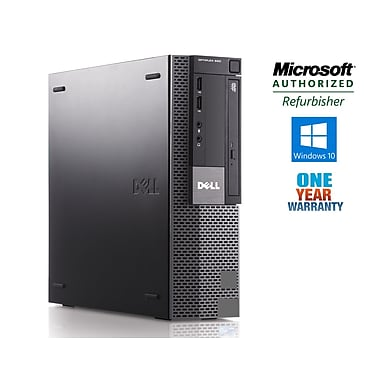 DELL - PC de table 980 SFF, remis à neuf, Intel Core i5 650, 3,2 GHz, DD 500 Go, DDR3 4 Go, Windows 10 Famille