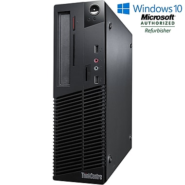 LENOVO - PC de table M73 SFF remis à neuf, Intel Core-i3 4130, 3,4 GHz, DD 250 Go, DDR3 4 Go, Windows 10 Pro