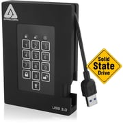 Apricorn Aegis Padlock A25-3PL256-S128F 128 GB External Solid State Drive, Portable