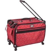 "TUTTO Machine on Wheels Case, 23""x15""x12"", Red with Dotted Circles"