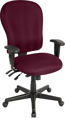 Raynor Eurotech 4 x 4 XL Fabric Ergonomic High-Back Task Chair, Fabric, Burgundy