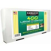 Sargent Art 400-Colour Large Size Multicultural Crayon Best-Buy Assortment (22-3270)