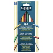 "Sargent Art 10-Colour Sargent Jumbo Triangular Pencil 7"", 12/Pack (22-7210)"
