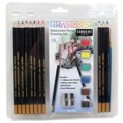 Sargent Art 19-Piece WaterColour Pencil Drawing Set, 6/Pack (22-7281)