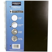 "Sargent Art 100-Sheet 9 x 11"" 1 Subject Poly Notebook, College Ruled, 24/Pack (23-1542)"