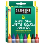 Sargent Art 8-Colour Wipe-Off White Board Crayon