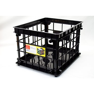 Staples® Storage Crate, Black