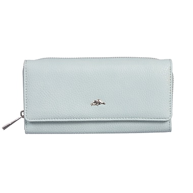Roots 73 Large Clutch Wallet W/Back Zipper Compartment