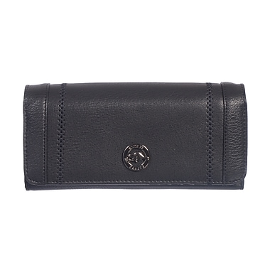 Roots 73 Clutch Wallet With Expandable Snap Closure