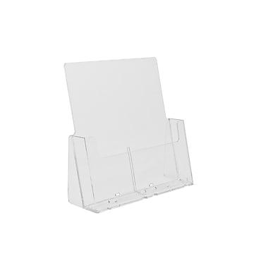 Présentoir de comptoir en acrylique pour brochures pleines pages, paq./5