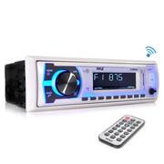 Pyle – Récepteur stéréo Bluetooth intégré au tableau de bord avec prise d'appels mains libres (AUPLMRB29W)