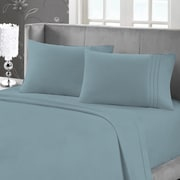 Blanc de Blanc Cashmere/Cotton 400 Thread Count Sheet Set, Teal