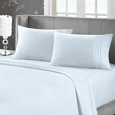 Blanc de Blanc Cashmere/Cotton 400 Thread Count Sheet Set, Ice Blue