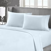 Blanc de Blanc Cashmere/Cotton 400 Thread Count Sheet Set, Ice Blue