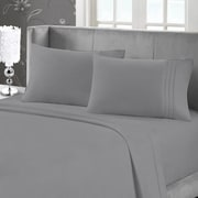 Blanc de Blanc Cashmere/Cotton 400 Thread Count Sheet Set, Charcoal