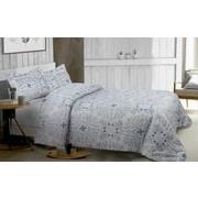 Lauren Taylor Haze Printed 3-Piece Comforter Set, Blue