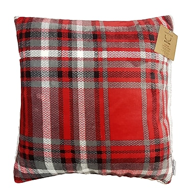 Lauren Taylor Rustic Cabin Lucas Super Soft Cushion Plaid Printed Resversible to Sherpa, 18