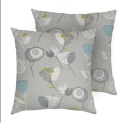 "Lauren Taylor Marcella Cushion, 18"" x 18"", Grey, 2/Pack (MAR02,950,GREY)"