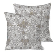 "Lauren Taylor Frida Cushion, 18"" x 18"", Grey, 2/Pack (FR003,950,GREY)"