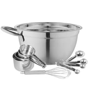 A La Cuisine Mixing and Measuring 10 Piece Set, Stainless Steel (MB006-ST1-10PCS)
