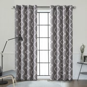 Lauren Taylor Tango Printed Blackout Grommet Panel, Grey