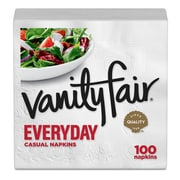 Vanity Fair® Everyday Napkins, 2-Ply, 100 Napkins/Pack (35501)