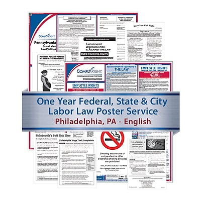 ComplyRight Federal, State & City (English) - Subscription Service, Philadelphia, PA (U1200FSCPAPHI)