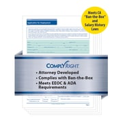 ComplyRight State-Compliant Job Application, California, 50 Pack