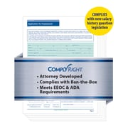ComplyRight State-Compliant Job Application, Massachusetts, 50 Pack