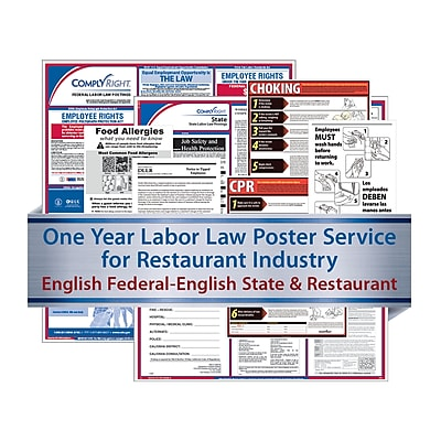ComplyRight Federal, State & Restaurant (English) - Subscription Service, North Carolina