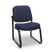 OFM™ Fabric Padded Guest/Reception Chair With Fully Upholstered Back, Navy