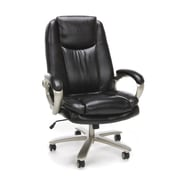 Essentials by OFM Big and Tall Swivel Mesh Office Chair with Arms, Black/Chrome (ESS-200-BLK)