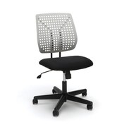 Essentials by OFM Model Plastic Back Task Chair, Black Gray (ESS-2050-BLK-GRY)