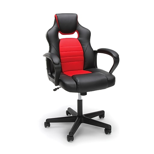 Essentials By Ofm Racing Style Gaming Chair Red Ess 3083
