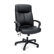 Essentials by OFM Bonded Leather High-Back Executive Chair with Massage Control, Black, (ESS-6015M)
