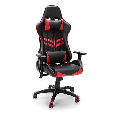 Essentials by OFM Racing Style Gaming Chair, Black/Red (ESS-6065-RED)