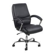 Essentials by OFM Ergonomic High-Back Bonded Leather Executive Chair, Black with Chrome Finish, (ESS-6070-BLK)