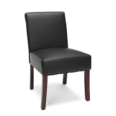 Essentials by OFM Armless Executive Guest Chair, Black (ESS-9020-BLK)