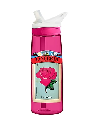 Loteria Plastic Water Bottle La Rosa (190443002225)